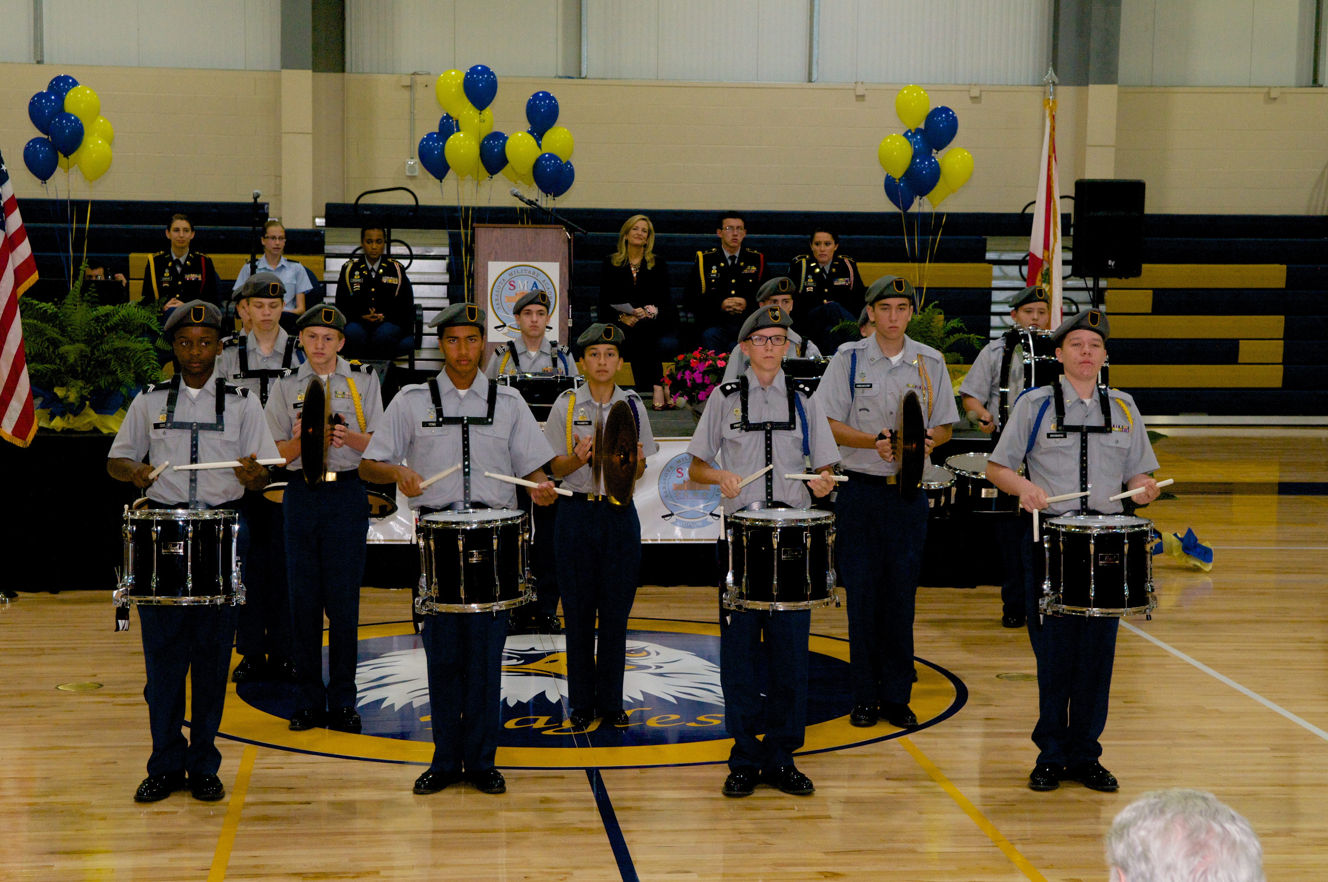 BCFF awards a grant to Sarasota Military Academy for the
